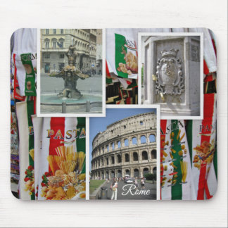 Rome The Eternal City Collage Mouse Pad