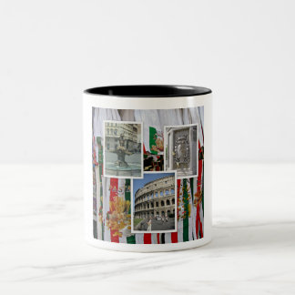Rome The Eternal City Collage Two-Tone Coffee Mug
