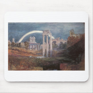 Rome, The Forum with a Rainbow by William Turner Mouse Pad
