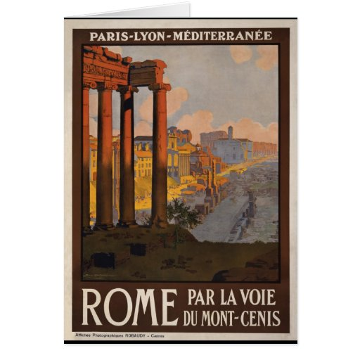 Rome through the Mont-Cenis Greeting Card