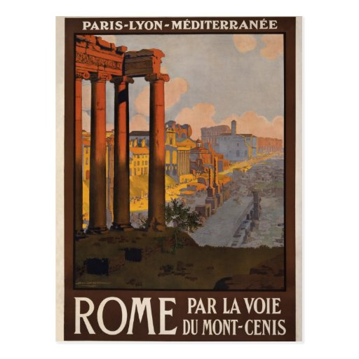 Rome through the Mont-Cenis Post Card