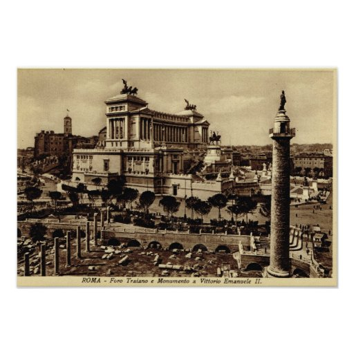 Rome,Trajan's Forum and Monument Posters