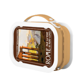 Rome Travel Poster Vintage Yubo Lunch Box