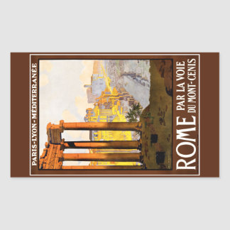 Rome Travel Poster Vintage Rectangular Sticker