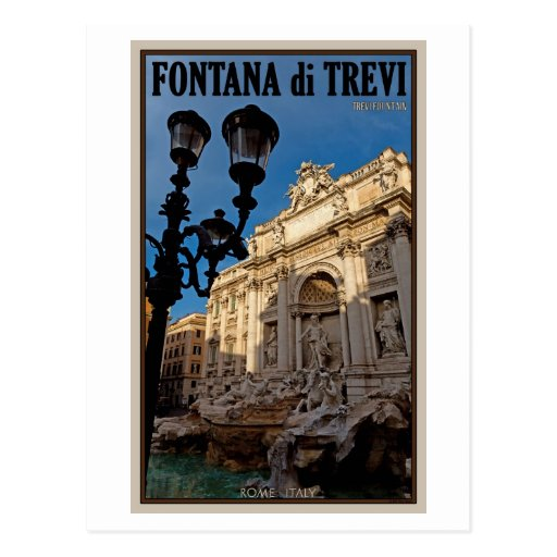 Rome - Trevi Fountain Post Cards
