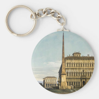Rome: View of the Piazza di San Giovanni Basic Round Button Key Ring