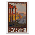 """""""Rome"""" Vintage Travel Poster Greeting Card"""