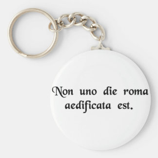Rome was not built in one day. basic round button key ring