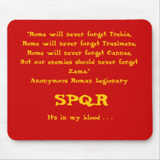 Rome will never forget Mousepad Red