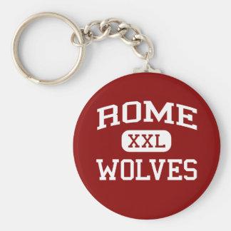 Rome - Wolves - Rome High School - Rome Georgia Basic Round Button Key Ring