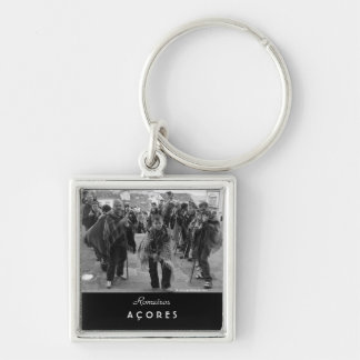 Romeiros pilgrims Silver-Colored square key ring