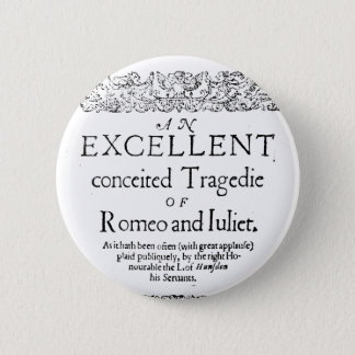 Romeo and Juliet 6 Cm Round Badge