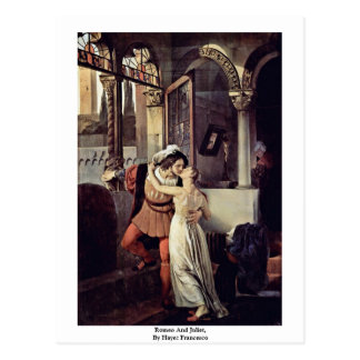 Romeo And Juliet, By Hayez Francesco Postcard