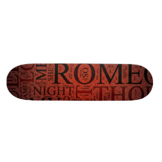 Romeo and Juliet Red Skateboard