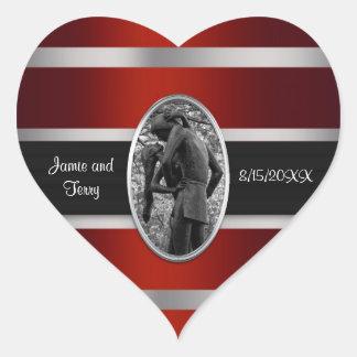 Romeo & Juliet, Central Park NYC Invitation Suite Heart Sticker