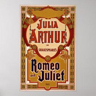 Romeo & Juliet Play Vintage Poster