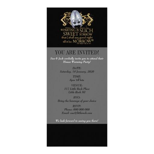 Romeo & Juliet Quote (Gold Version) Invitation