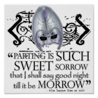 Romeo & Juliet Quote Poster