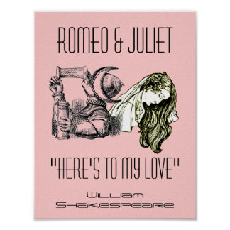 Romeo Toast To Juliet Poster Shakespeare Festival