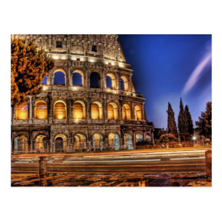 Rome's Colosseum under the Night Sky Postcard