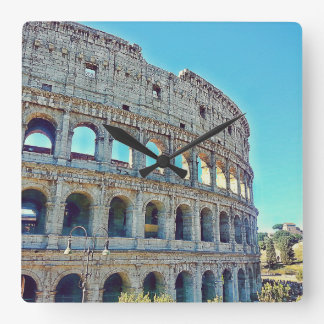 Rome's Colosseum Wall Clock