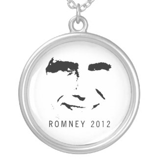 Romney 2012 FACE Round Pendant Necklace