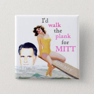 Romney 2012 Pin-Up Girl 15 Cm Square Badge