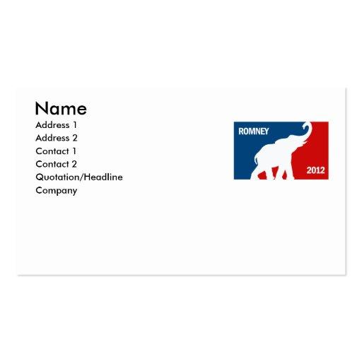 ROMNEY 2012 PRO BUSINESS CARDS