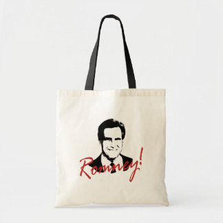 Romney Autographed Picture Tote Bags