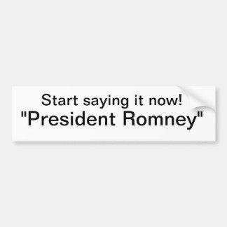Romney Bumper Sticker