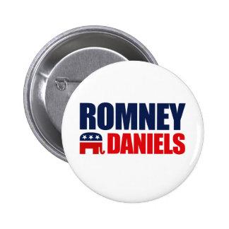 ROMNEY DANIELS TICKET 2012 6 CM ROUND BADGE