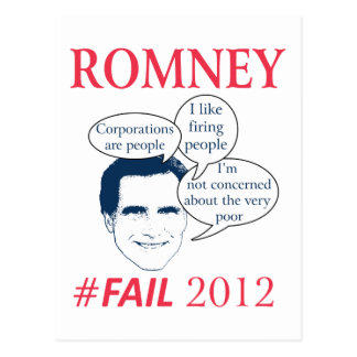 Romney Fail Postcard
