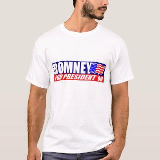 Romney for President 08 w/ American Flag T-shirt