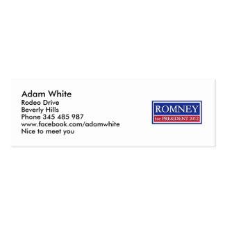 Romney for President 2012 Pack Of Skinny Business Cards