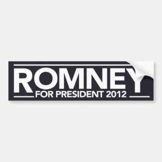 Romney For President Bumper Sticker (Black)