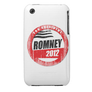ROMNEY FOR PRESIDENT BUTTON iPhone 3 COVER