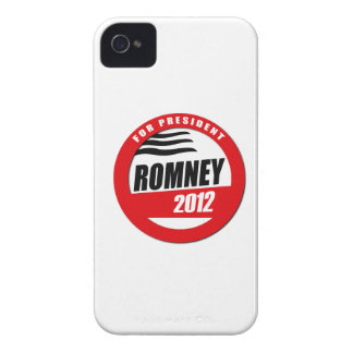 ROMNEY FOR PRESIDENT BUTTON iPhone 4 COVERS