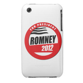 ROMNEY FOR PRESIDENT BUTTON Case-Mate iPhone 3 CASES