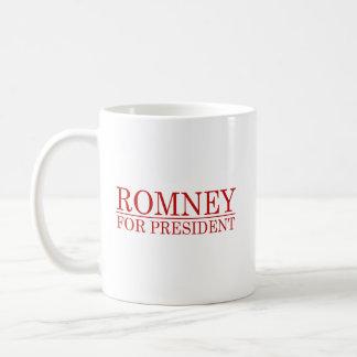 ROMNEY FOR PRESIDENT (Red) Basic White Mug