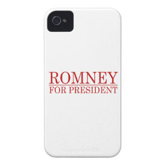 ROMNEY FOR PRESIDENT (Red) Case-Mate iPhone 4 Cases