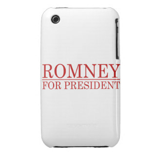 ROMNEY FOR PRESIDENT (Red) iPhone 3 Cases