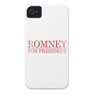 ROMNEY FOR PRESIDENT (Red) iPhone 4 Case-Mate Case