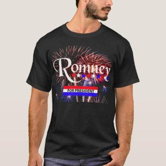 Romney For President With Fireworks T-Shirt