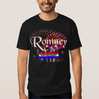 Romney For President With Fireworks T-shirts
