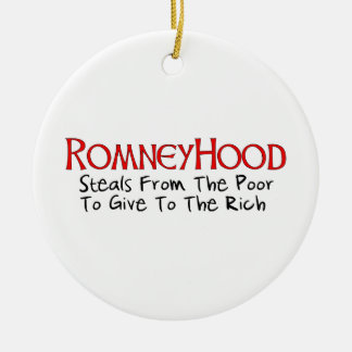 Romney Hood Christmas Tree Ornaments