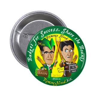 Romney Hood Reduce Deficits 6 Cm Round Badge