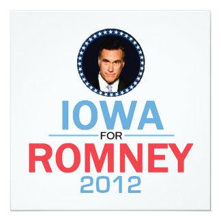 """Romney Iowa Invitation 5.25"""" Square Invitation Card"""