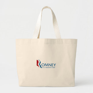 Romney is a massive tool jumbo tote bag