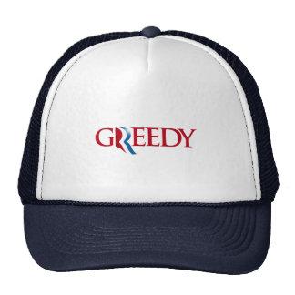 Romney is Greedy Trucker Hat
