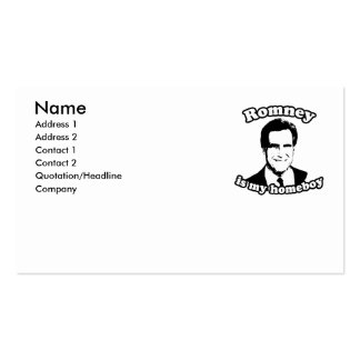 ROMNEY IS MY HOMEBOY BUSINESS CARDS